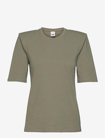 Deborah Tee - t-shirts - dusk khaki