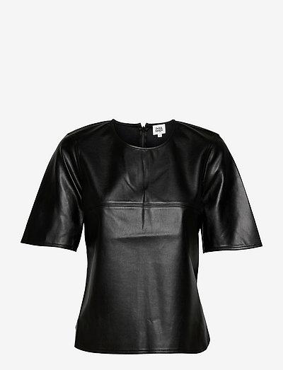 Nadine Top - kortærmede bluser - black