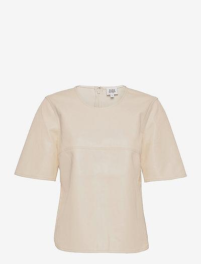 Nadine Top - t-shirts - whispy white