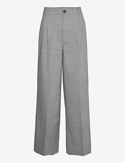 Aliya Trousers - habitbukser - grey melange