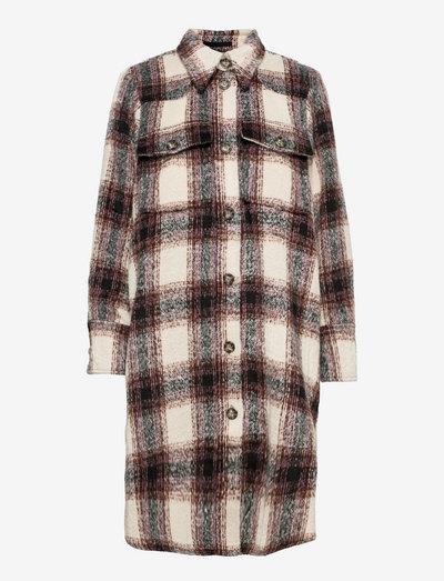 Nalani Overshirt - kläder - mocca check