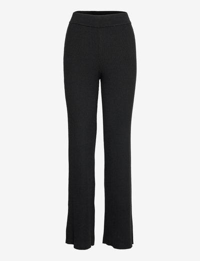 Sloane Trousers - raka byxor - black