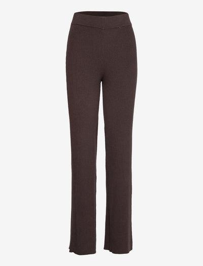 Sloane Trousers - straight leg trousers - coffee