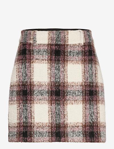 Sierra Skirt - korte nederdele - mocca check
