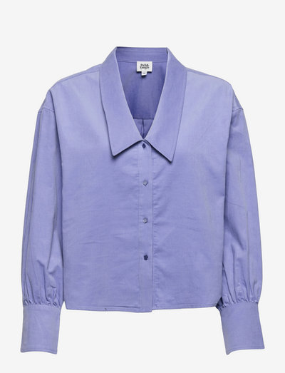 Alexia Blouse Aster - langærmede skjorter - aster blue