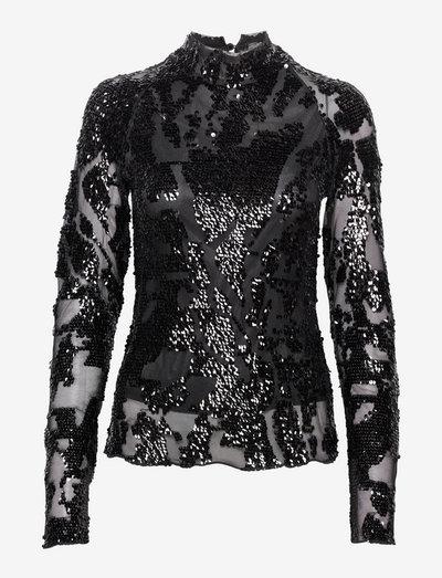 Willa Top - langærmede bluser - black