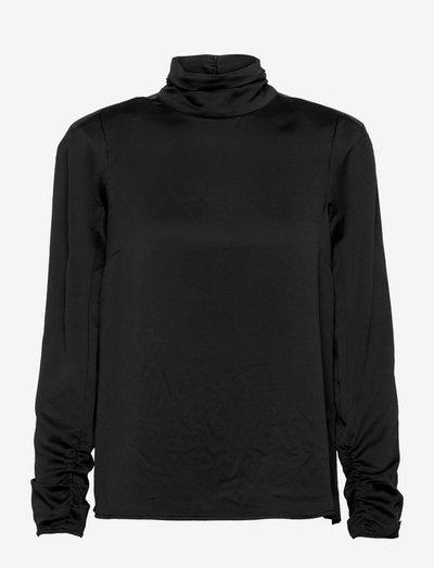 Rory Blouse - langærmede bluser - black