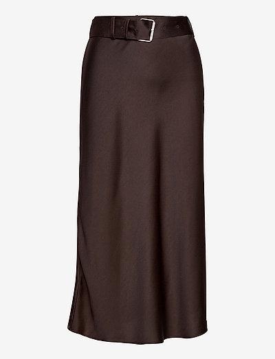 Alannah Skirt - midi kjolar - coffe