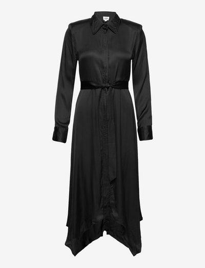 Floriza Shirt Dress - skjortekjoler - black