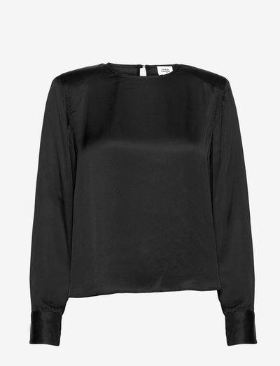 Farah Blouse - langærmede bluser - black