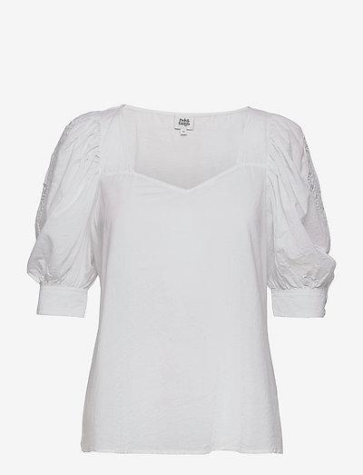 Vilina Blouse - kortærmede bluser - whispy white