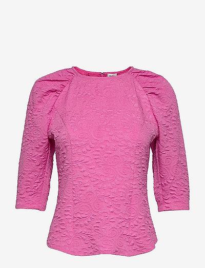 Leola Blouse - langærmede bluser - vivid pink