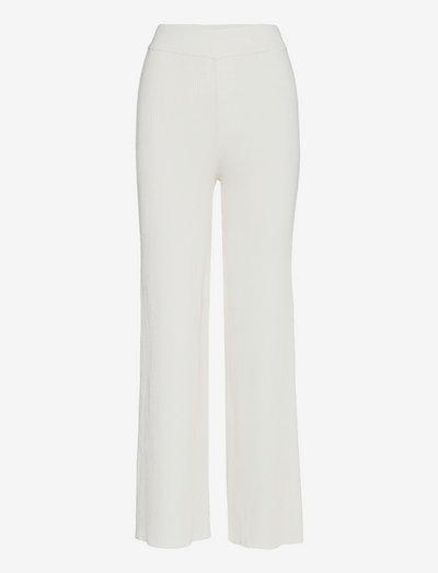 Sloane Trousers - bukser med lige ben - off white