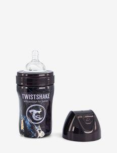 Twistshake Anti-Colic Stainless Steel 260ml Marble Black - tuttipullot - marble black