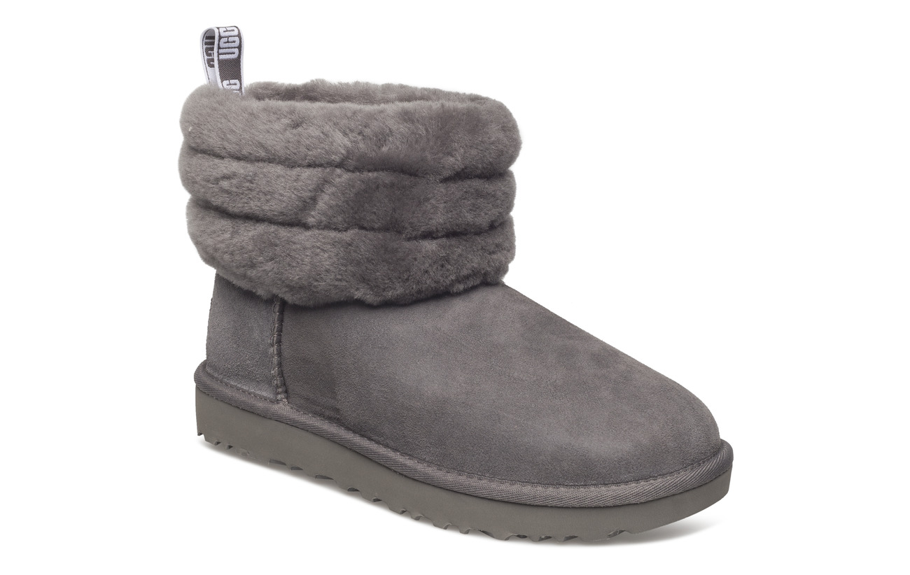 UGG W Fluff Mini Quilted - CHARCOAL