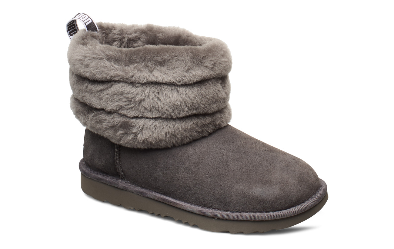 UGG K Fluff Mini Quilted - CHARCOAL