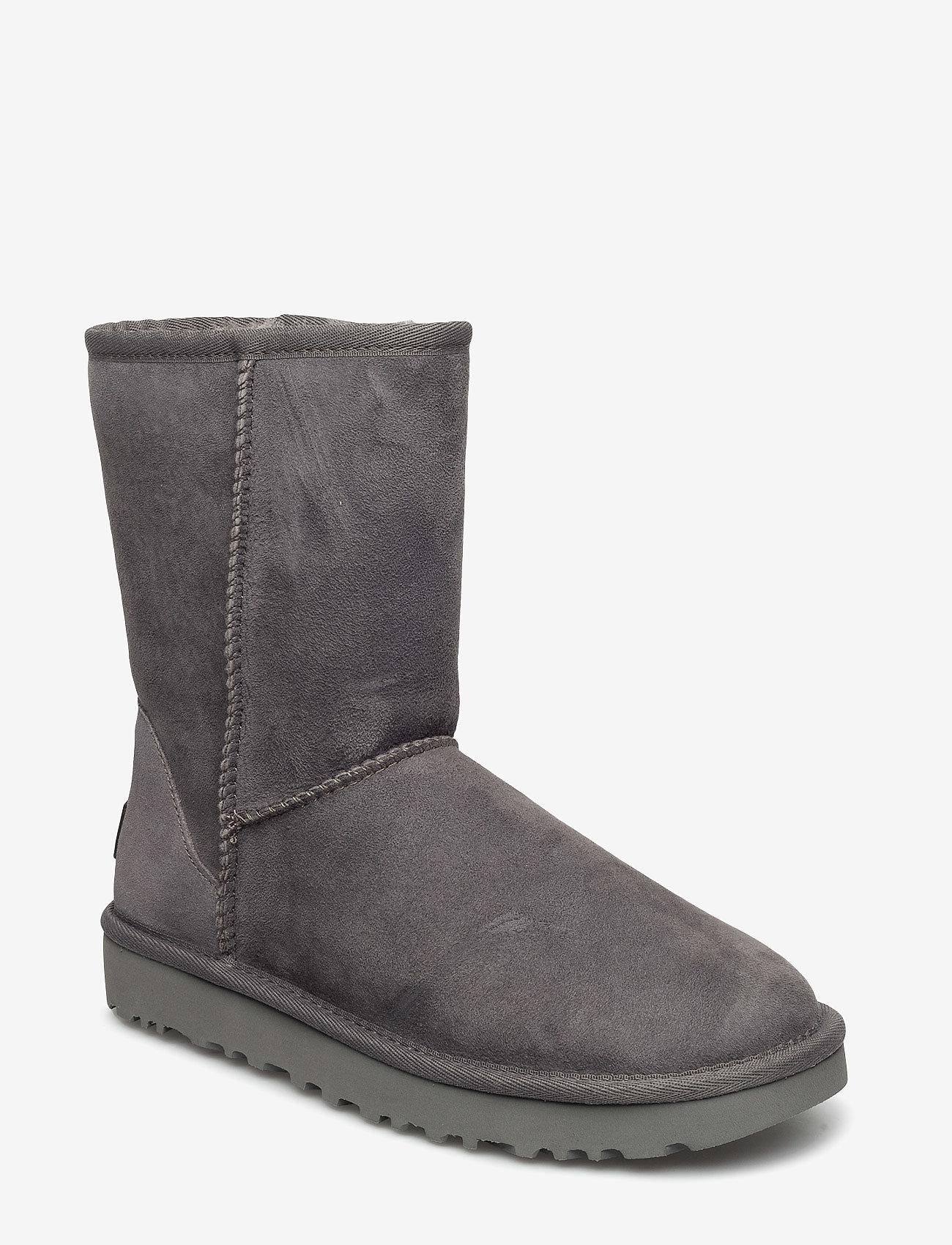 UGG - W Classic Short II - flade ankelstøvler - grey - 0
