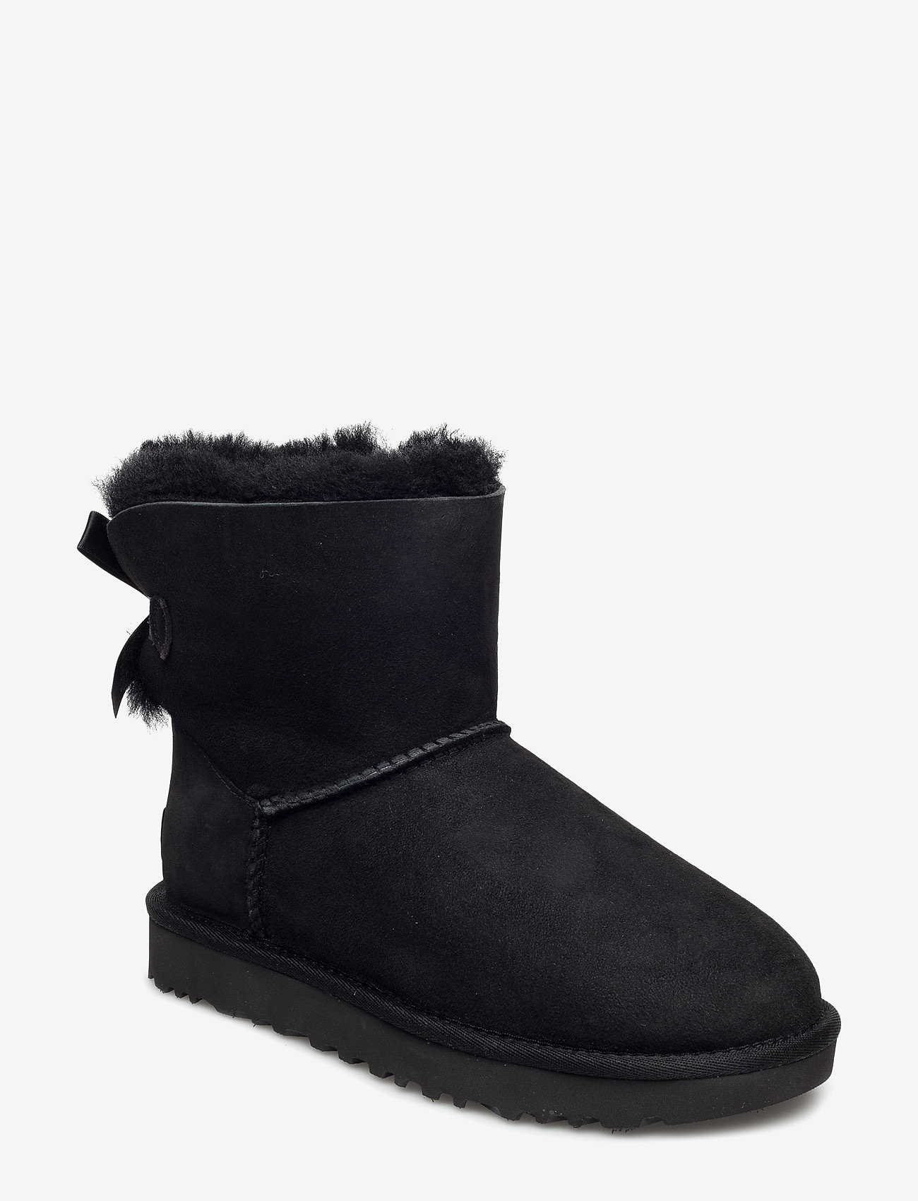 UGG - W Mini Bailey Bow II - flat ankle boots - black - 0