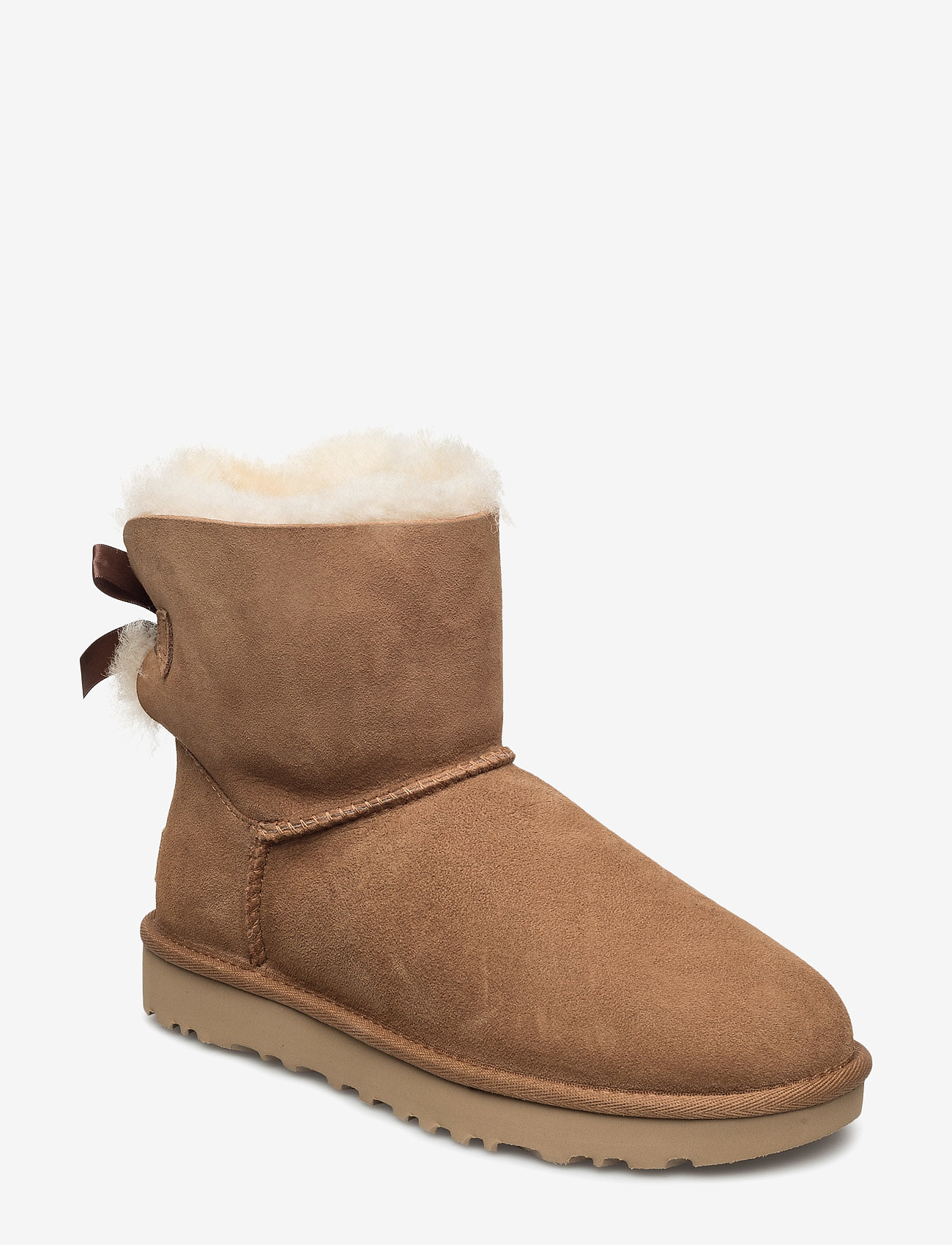 UGG - W Mini Bailey Bow II - flat ankle boots - chestnut - 0