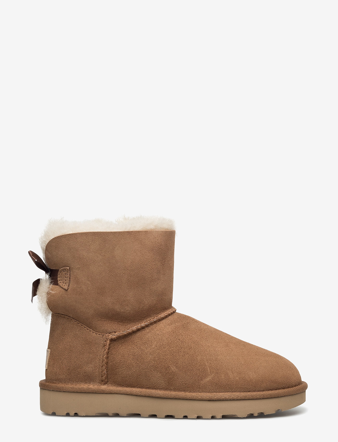 UGG - W Mini Bailey Bow II - flat ankle boots - chestnut - 1