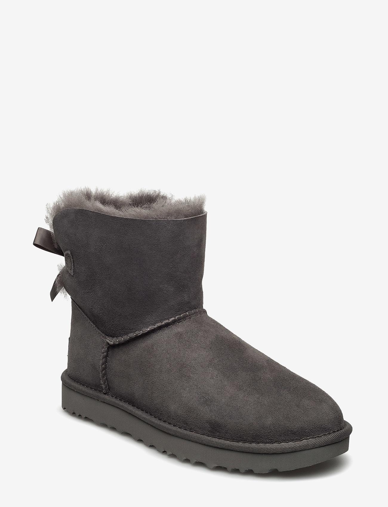 UGG - W Mini Bailey Bow II - flat ankle boots - grey - 0