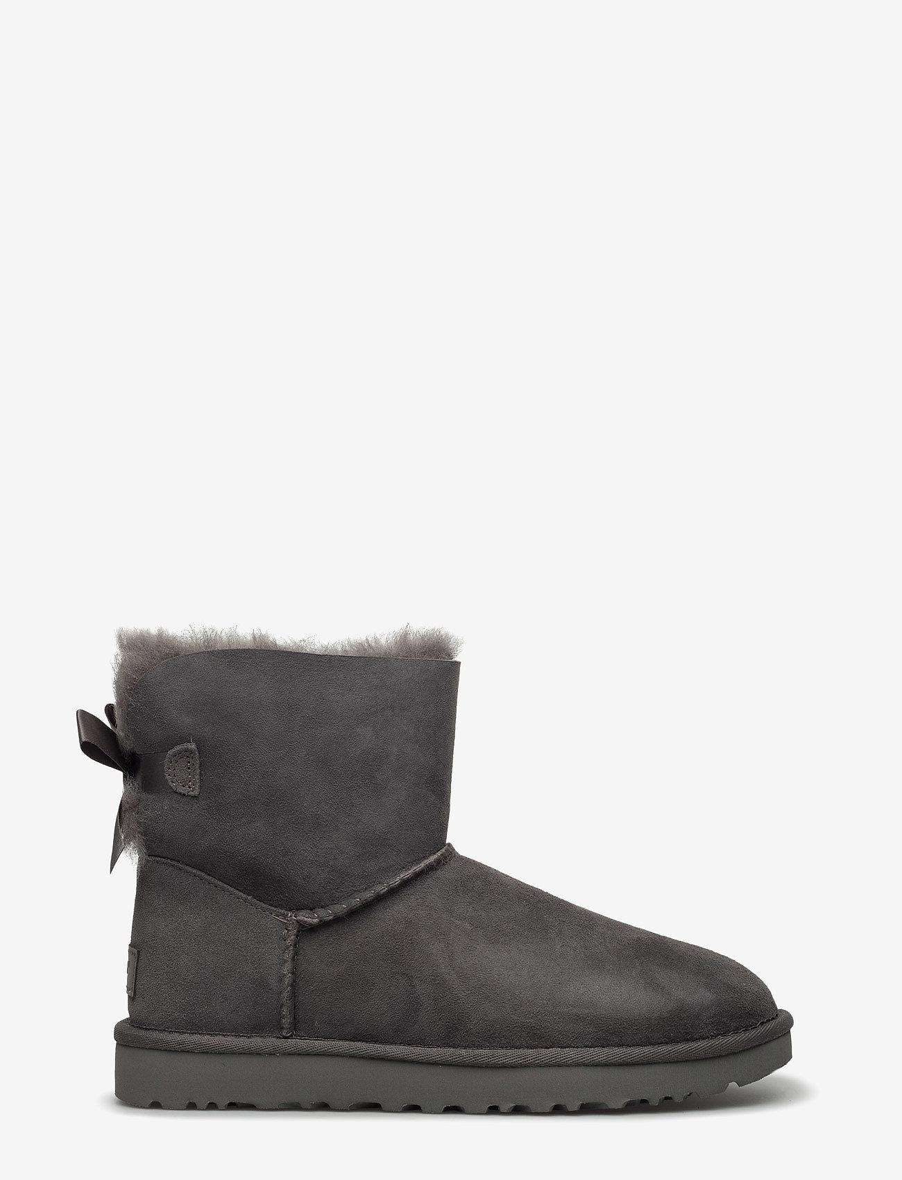 UGG - W Mini Bailey Bow II - flat ankle boots - grey - 1