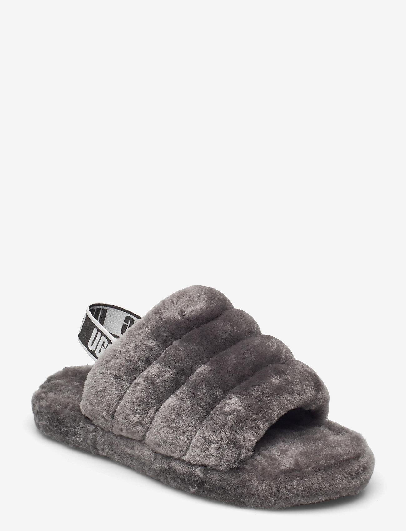 UGG - Fluff Yeah Slide - schuhe - charcoal - 0