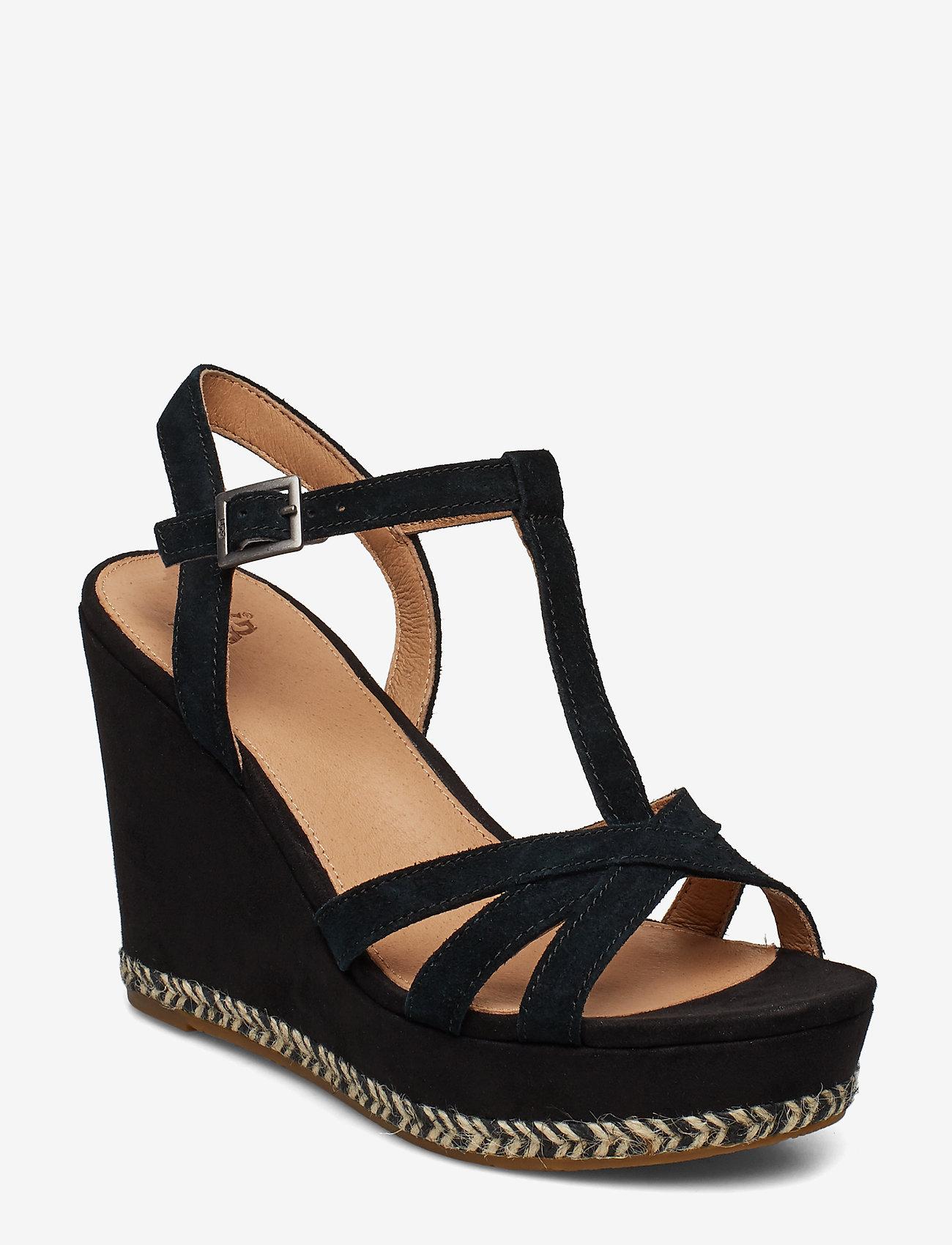 UGG - W Melissa - højhælede espadrillos - black - 0