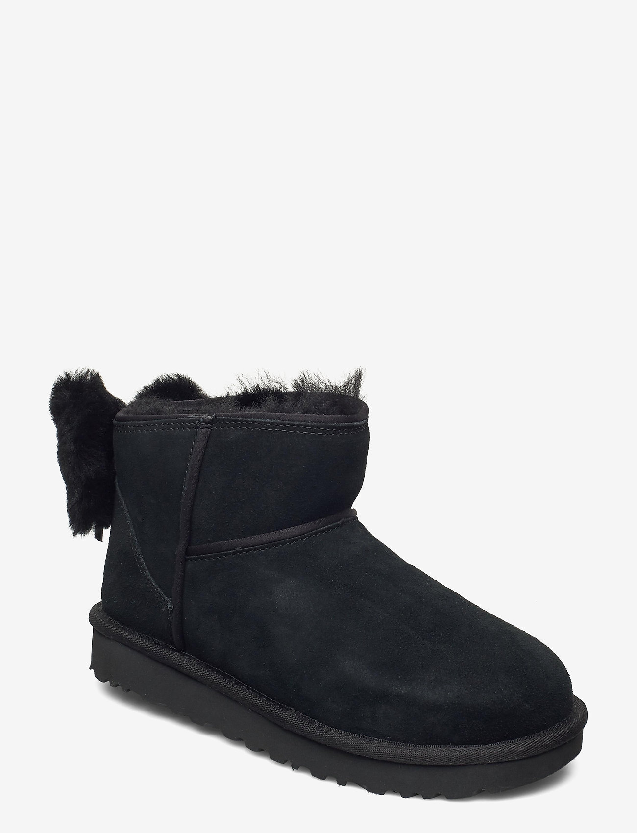 UGG - W Classic Mini Bow - flat ankle boots - black - 0