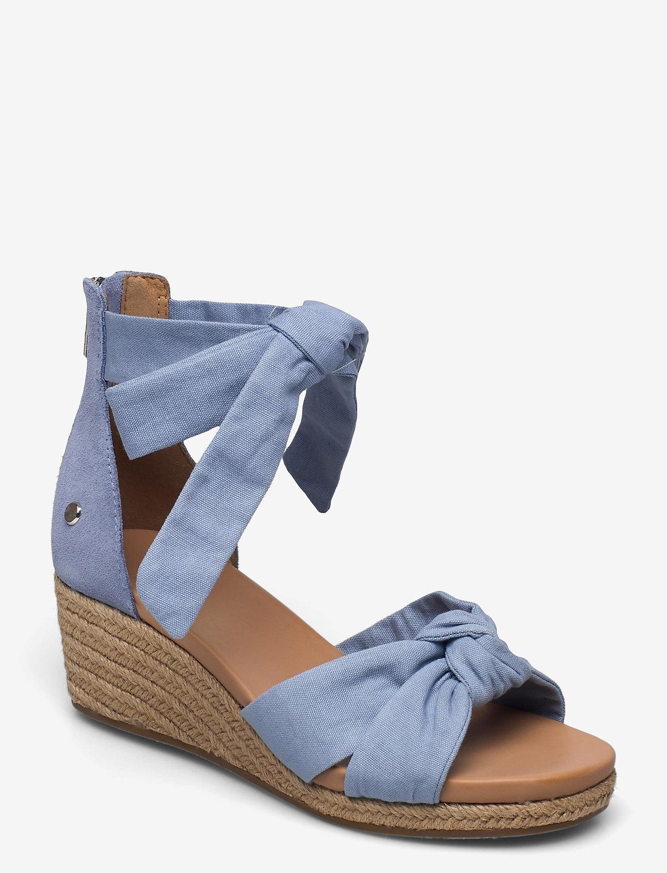UGG - W Yarrow - højhælede espadrillos - blue canvas - 1