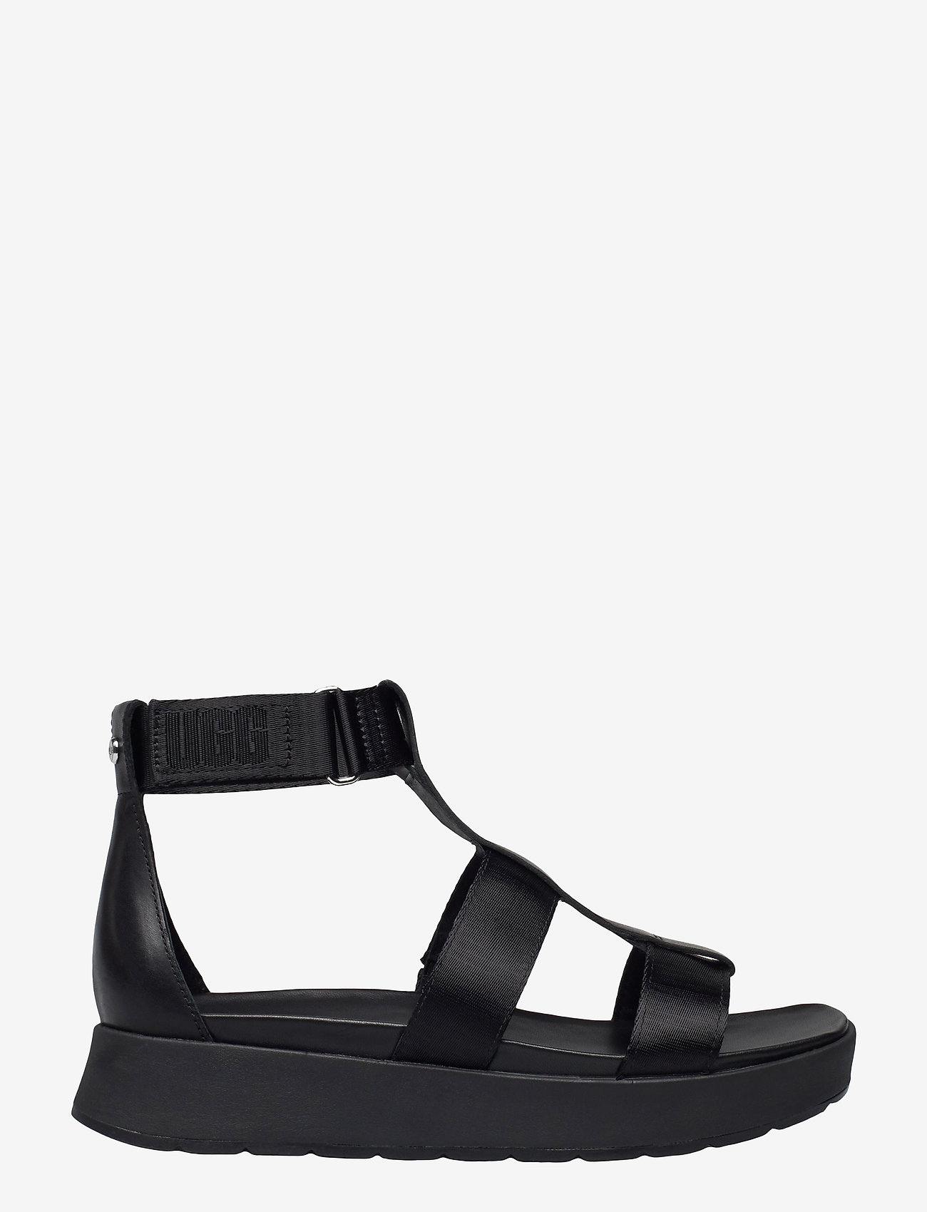 UGG - W Eeba - platte sandalen - black mesh - 1