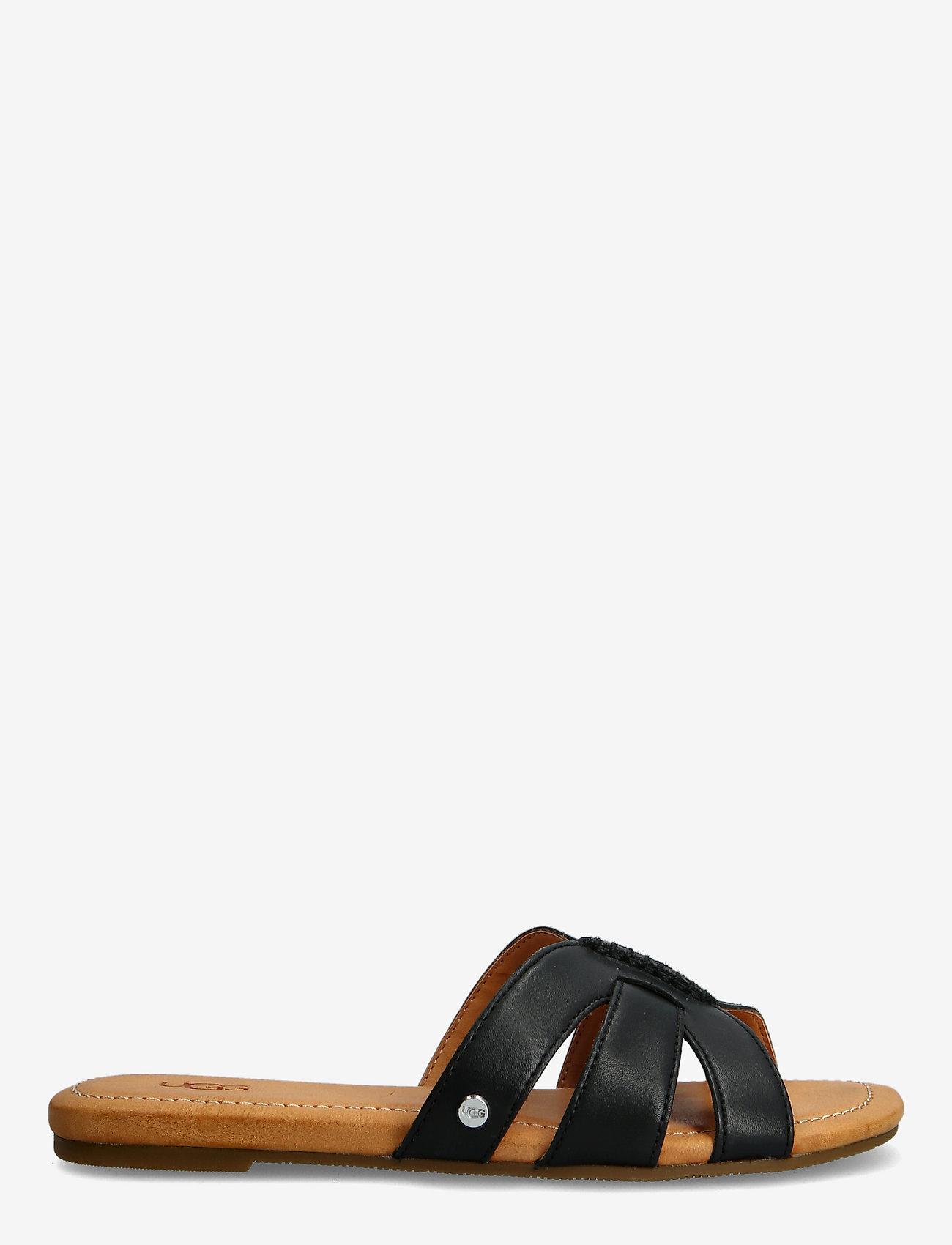 UGG - W Teague - platte sandalen - black lth - 1