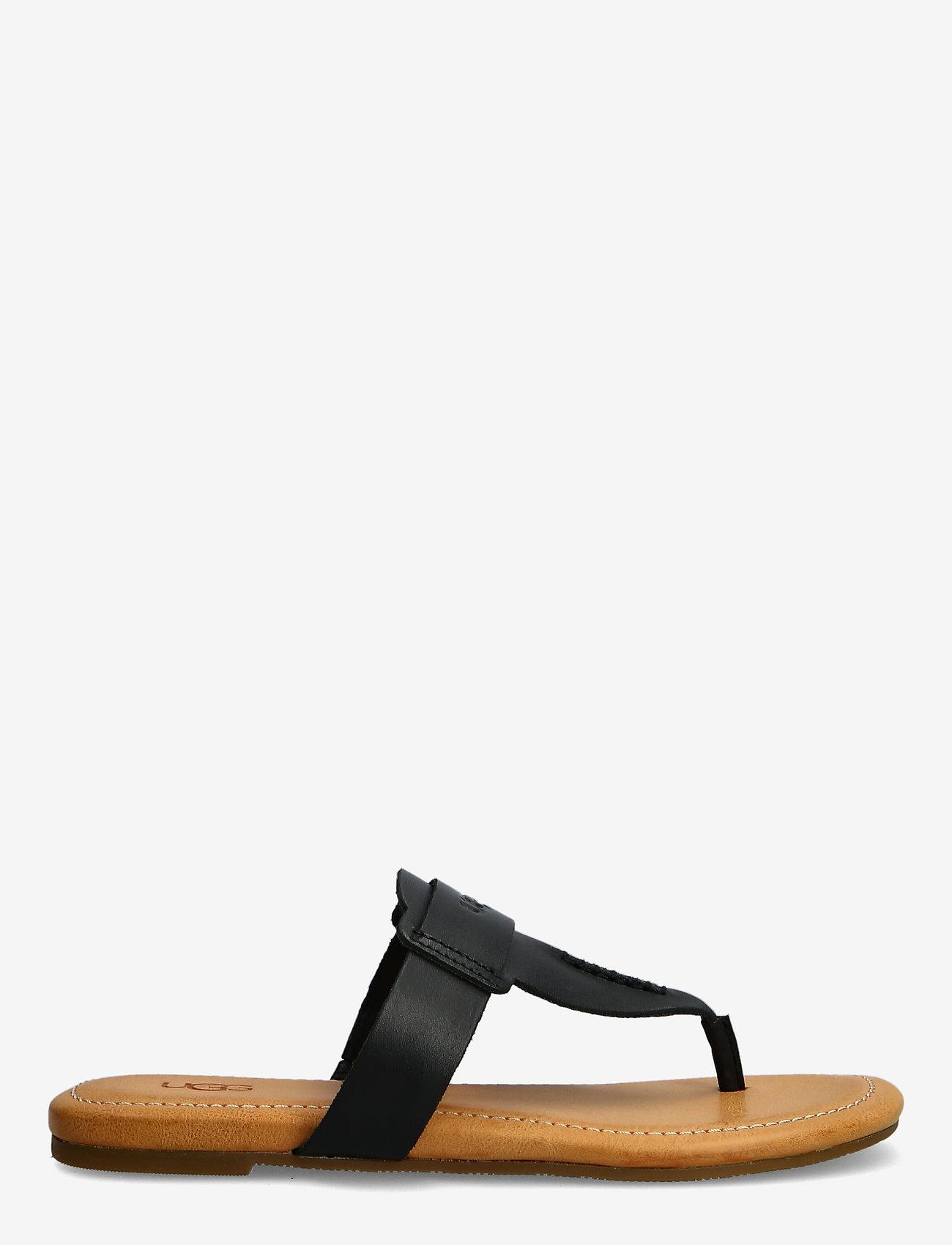 UGG - W Gaila - platte sandalen - black leather - 1