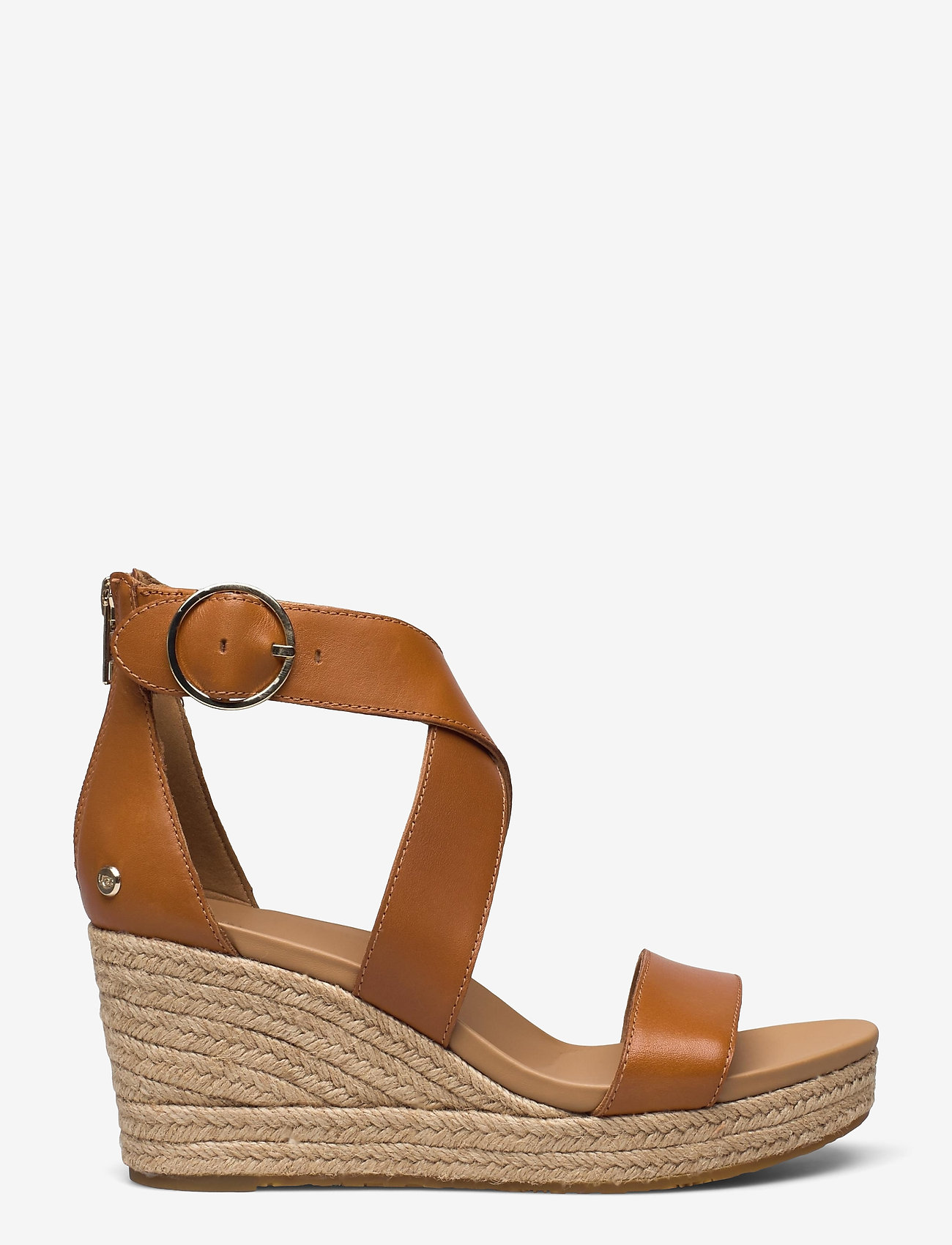 UGG - W Hylda - højhælede espadrillos - tan leather - 0