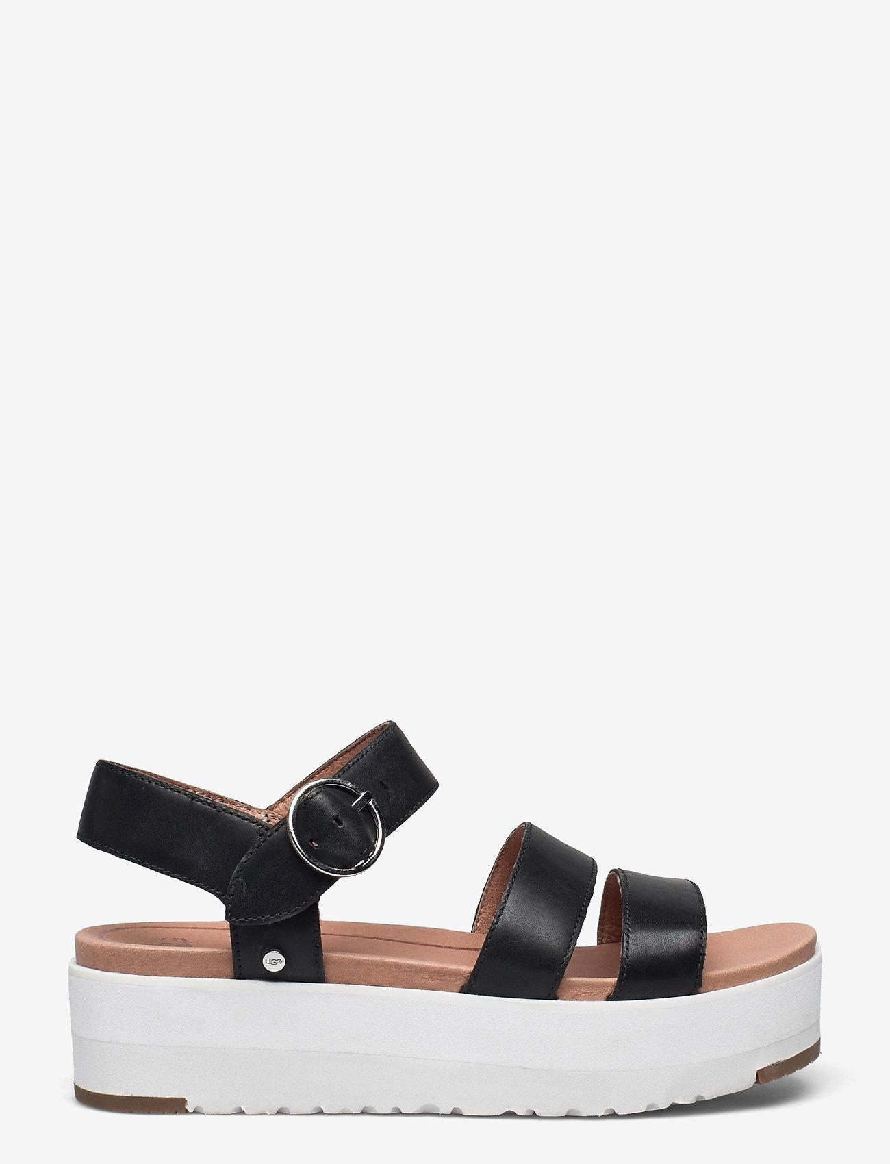 UGG - W Leedah - platte sandalen - black lth - 1