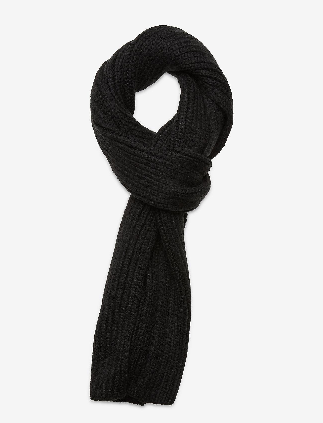 UGG - W CHUNKY RK SCARF - sjaals - black - 0