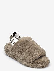 UGG - W Fluff Yeah Slide - platte sandalen - burnt olive - 0