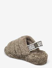 UGG - W Fluff Yeah Slide - platte sandalen - burnt olive - 2