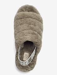 UGG - W Fluff Yeah Slide - platte sandalen - burnt olive - 3
