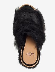 UGG - W Rosa Fluff Heel - mules & slipins - black - 3