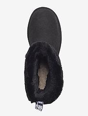 UGG - W Fluff Mini Quilted - flade ankelstøvler - black - 3