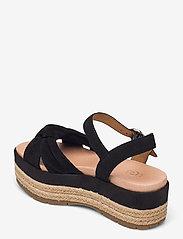 UGG - W Trisha - platte sandalen - black suede - 2