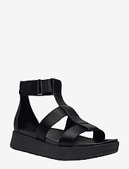 UGG - W Eeba - platte sandalen - black mesh - 0