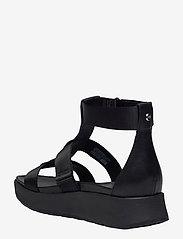UGG - W Eeba - platte sandalen - black mesh - 2