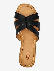 UGG - W Teague - platte sandalen - black lth - 3