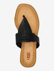 UGG - W Gaila - platte sandalen - black leather - 3