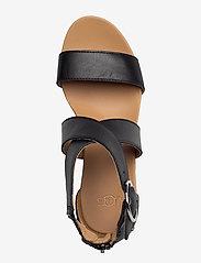 UGG - W Hylda - højhælede espadrillos - black leather - 3
