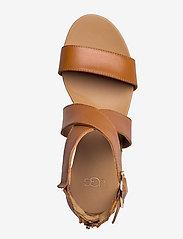 UGG - W Hylda - højhælede espadrillos - tan leather - 3