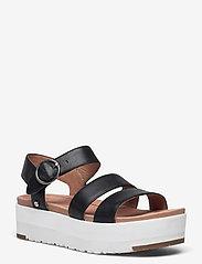 UGG - W Leedah - platte sandalen - black lth - 0