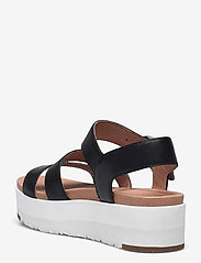 UGG - W Leedah - platte sandalen - black lth - 2